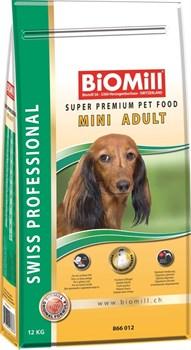 BIOMILL SWISS PROFESSIONAL Mini Adult /Для взрослых собак мелких и карликовых пород 12 кг  - фото 10546