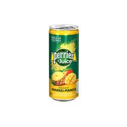 Perrier / ПЕРЬЕ Напиток безалкогольный  (ананас/манго) 0.25л ж/б газ ( 4шт) - фото 11727