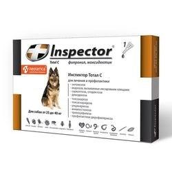 Inspector Тотал С / Капли Инспектор от Внешних и Внутренних паразитов для собак 25-40кг - фото 11762