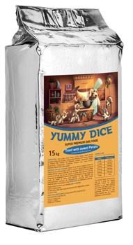 Yummy Dice (Ями Дайс) 15 кг - Сухой корм для собак Trout Adult (Форель с бататом для взрослых собак) - фото 11998