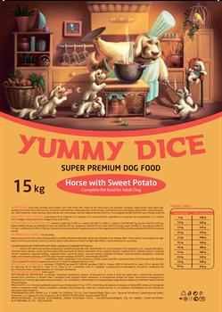 Yummy Dice (Ями Дайс) 15 кг - Сухой корм для собак Trout Adult (Конина со сладким картофелем) - фото 11999