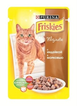 "FRISKIES ""Adult"" консервы 100 гр для кошек Индейка с Морковью в подливе (1х20) 12227659 - фото 6691"