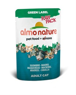 ALMO NATURE GREEN LABEL кон. д/кошек с Макрелью 55гр*24 (пауч)
