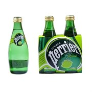 Perrier / ПЕРЬЕ вода минеральная питьевая природная столовая газированная с натуральным ароматизатором (лайма) 0,33 л 4 бутылки
