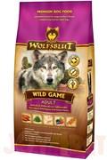 Wolfsblut Wild Game ADULT Дикая игра Сухой корм для взрослых собак с куропаткой, диким голубем, страусом и бататом. Белок: 26%, Жир: 16%.
