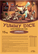 Yummy Dice (Ями Дайс) 15 кг - Сухой корм для собак Trout Adult (Ягненок и рис)