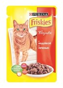"FRISKIES ""Adult"" консервы 100 гр для кошек Индейка с Печенью в подливе (1х20) 12227707"