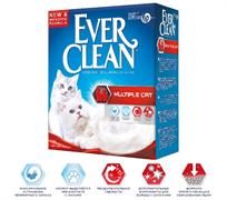 EVER CLEAN MULTIPLE CAT - КОМКУЮЩИЙСЯ НАПОЛНИТЕЛЬ ДЛЯ НЕСКОЛЬКИХ КОШЕК