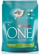 "PURINA ONE ""Indor"" сухой 200 гр для Кошек Индор Индейка (1х10) 12115820"