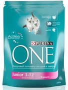 "PURINA ONE ""Junior"" сухой 200 гр для Котят Курица Рис (1х10) 12115821"