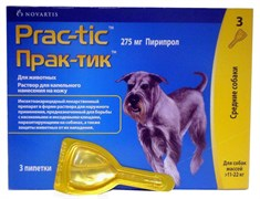 PRAC-TIC Практик Капли от блох и клещей д/собак 11-22кг (3 пипетки)